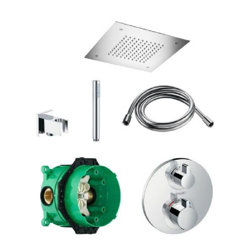 Abacus Temptation Thermostatic Concealed Shower Kit With Square Shower Head